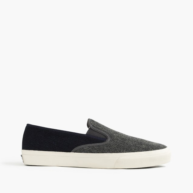 Sperry® for J.Crew wool slip-on sneakers