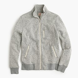 Summit fleece full-zip jacket in heather stone