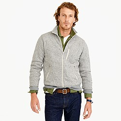 Tall Summit fleece full-zip jacket in heather stone
