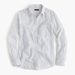 Petite camp popover shirt in stripe