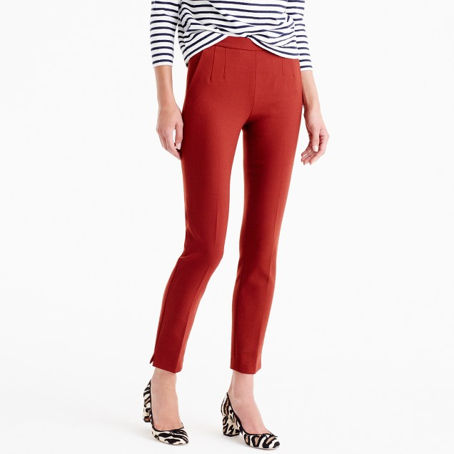 Petite Martie pant in two-way stretch wool