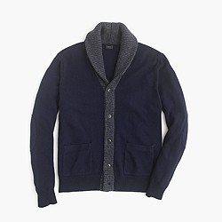 Slim softspun contrast cardigan sweater