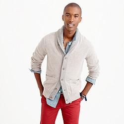 Slim softspun contrast cardigan sweater