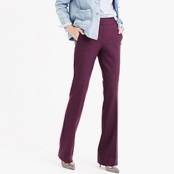 Petite full-length pant in bi-stretch wool