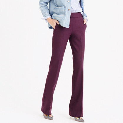 Full-length pant in two-way stretch wool