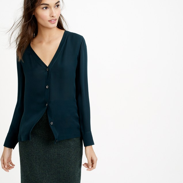 Collection silk cardigan top
