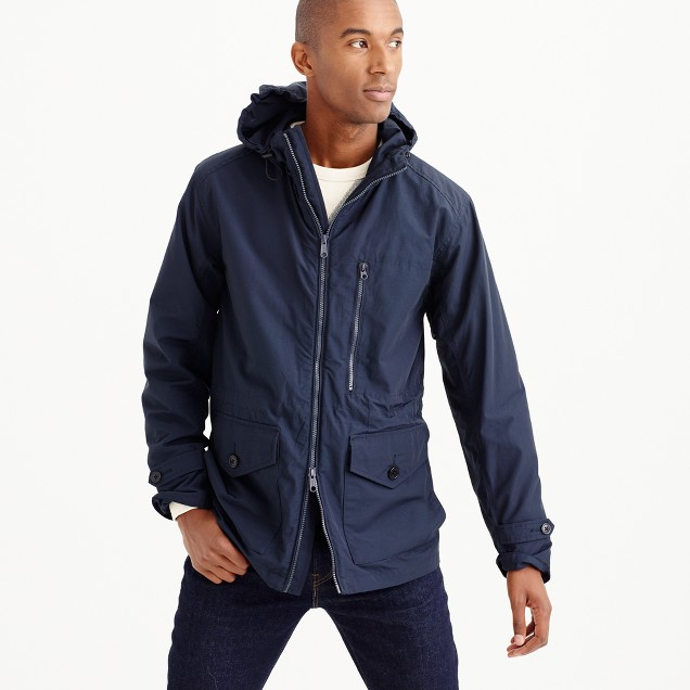 Cotton-nylon x250 hooded jacket