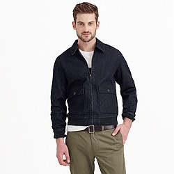 Wallace & Barnes denim bomber jacket