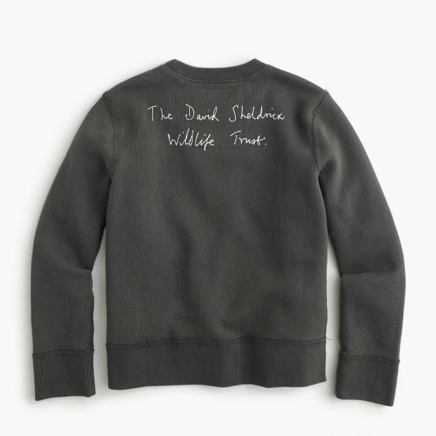Kids' crewcuts for David Sheldrick Wildlife Trust Save More Elephants sweatshirt