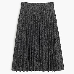 Pleated midi skirt in mini dot
