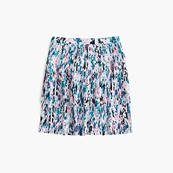 Two-tier pleated skirt in watercolor floral