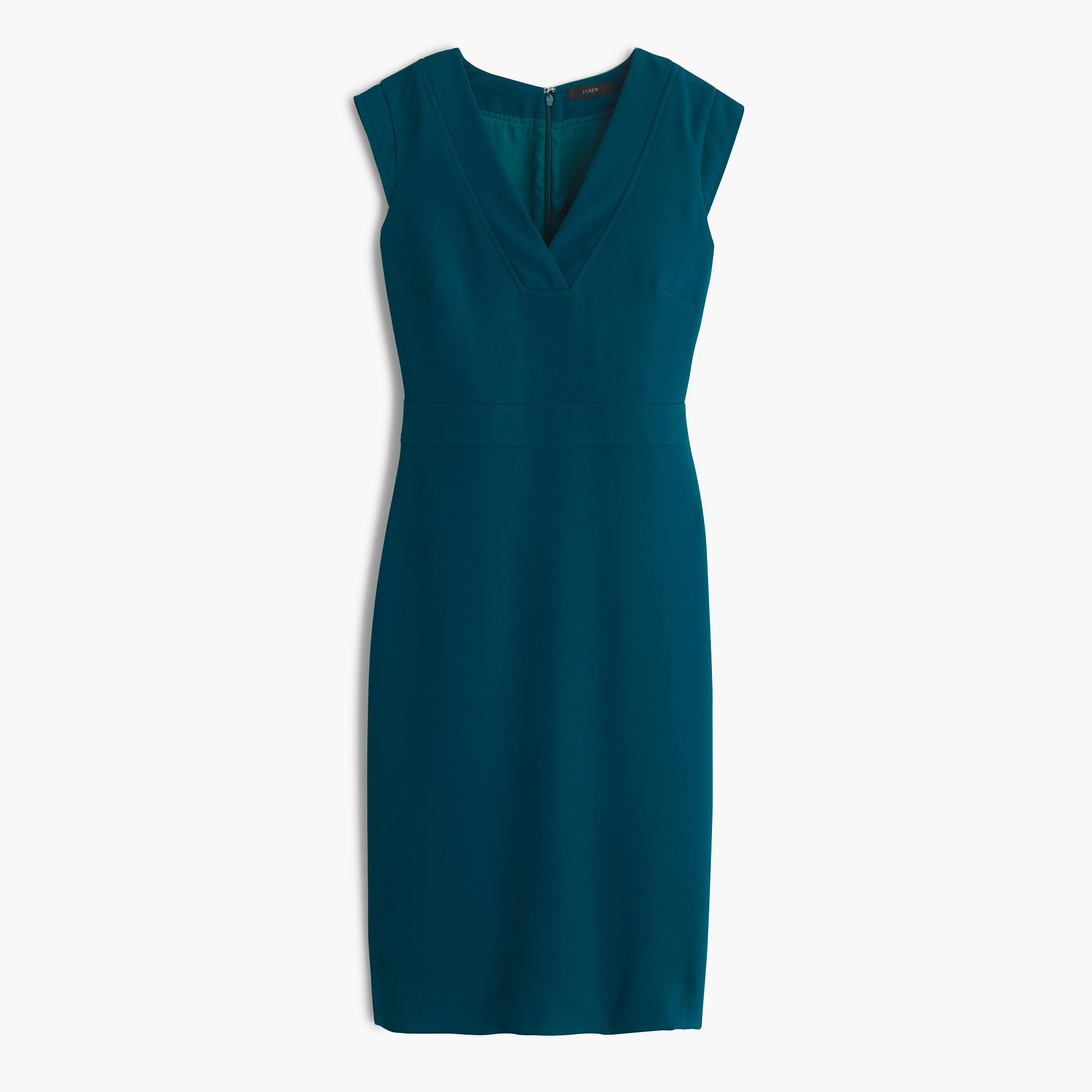 Drapey V-neck sheath dress : Women suiting | J.Crew
