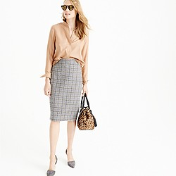 Petite No. 2 pencil skirt in tweed