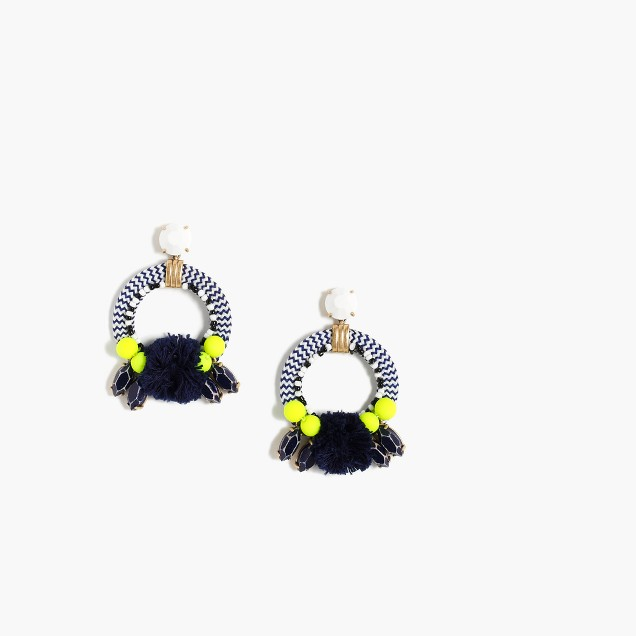 Woven fringe earrings