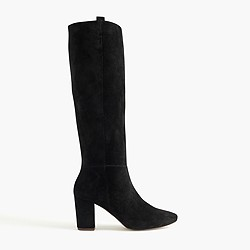 Suede pull-on boots