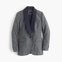 Collection shawl-collar blazer in Donegal tweed