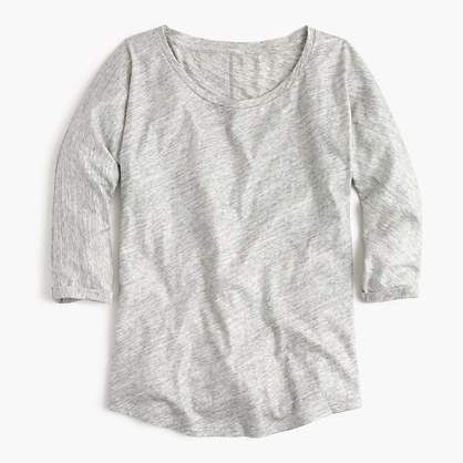 Vintage cotton three-quarter-sleeve dolman T-shirt in metallic