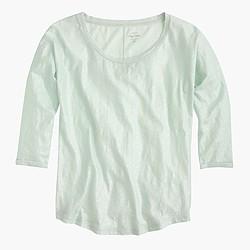 Vintage cotton three-quarter-sleeve dolman T-shirt in metallic