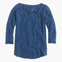 Indigo vintage cotton T-shirt with drop sleeves
