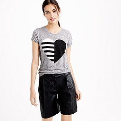 Split heart T-shirt