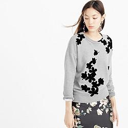 Graphic floral sweatshirt