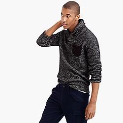 Italian cotton-merino shawl-collar sweater