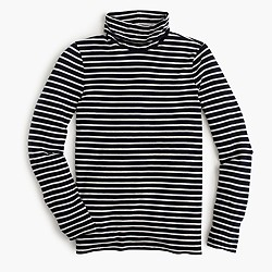 Striped tissue turtleneck T-shirt