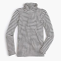 Striped tissue turtleneck T-shirt