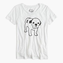 Hugo Guinness™ for J.Crew dog linen T-shirt