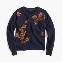Sequined floral sweatshirt