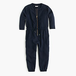 Girls' zip-front jumpsuit