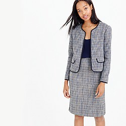 Zip-front jacket in flecked tweed