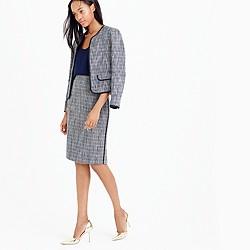 Pencil skirt in flecked tweed