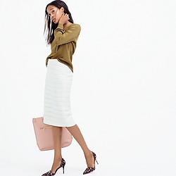 Collection metallic tweed pencil skirt