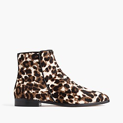 Collection calf hair ankle boots