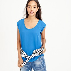Tall polished scoopneck top