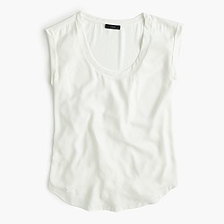 Polished scoopneck top