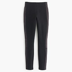 Pixie pant with leather tux stripe