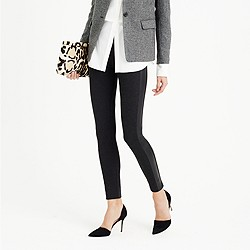 Tall Pixie pant with leather tux stripe