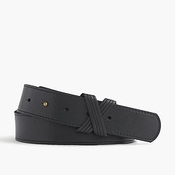 X leather belt