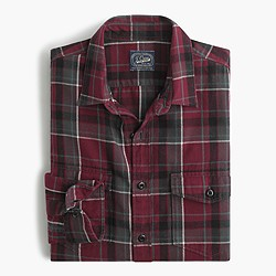 Midweight flannel shirt in vintage chimney plaid
