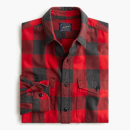 Herringbone Flannel Shirt In Buffalo Check Flannel J Crew