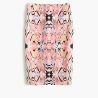 No. 2 pencil skirt in marble print