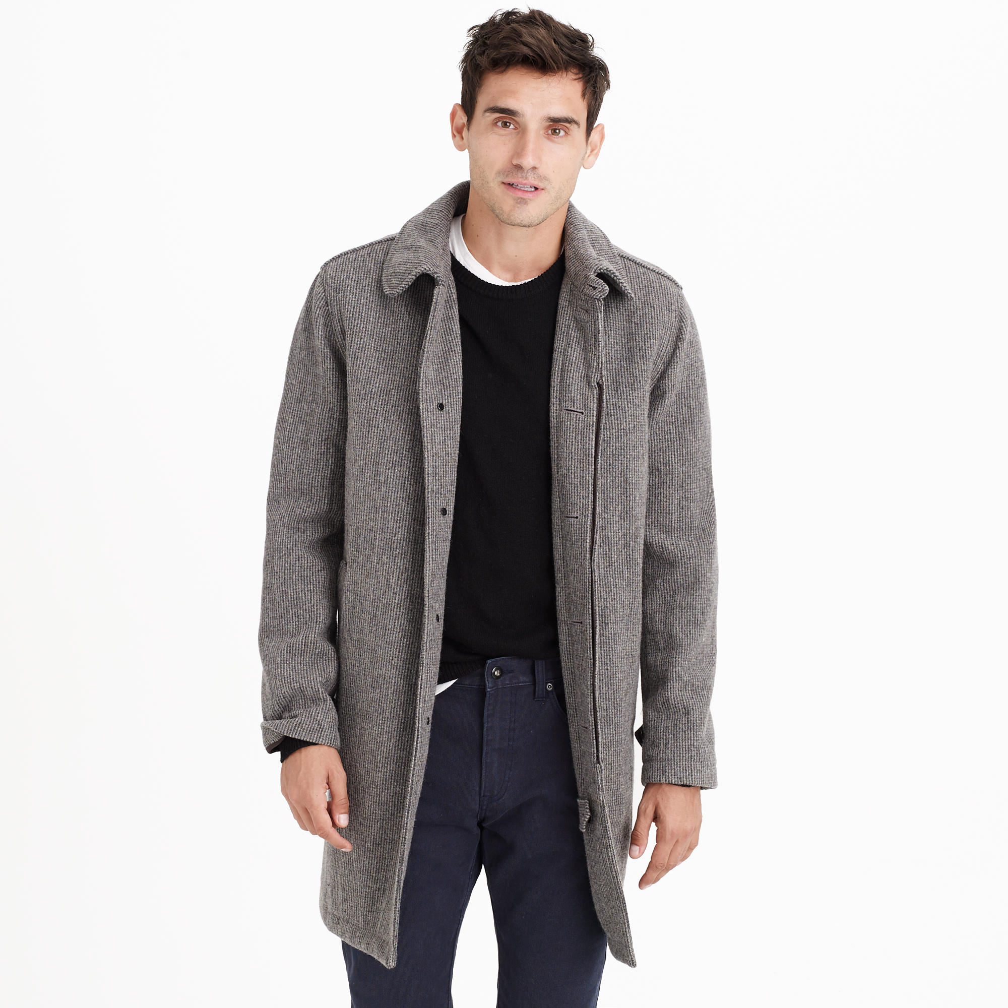 English houndstooth wool car coat :   J.Crew