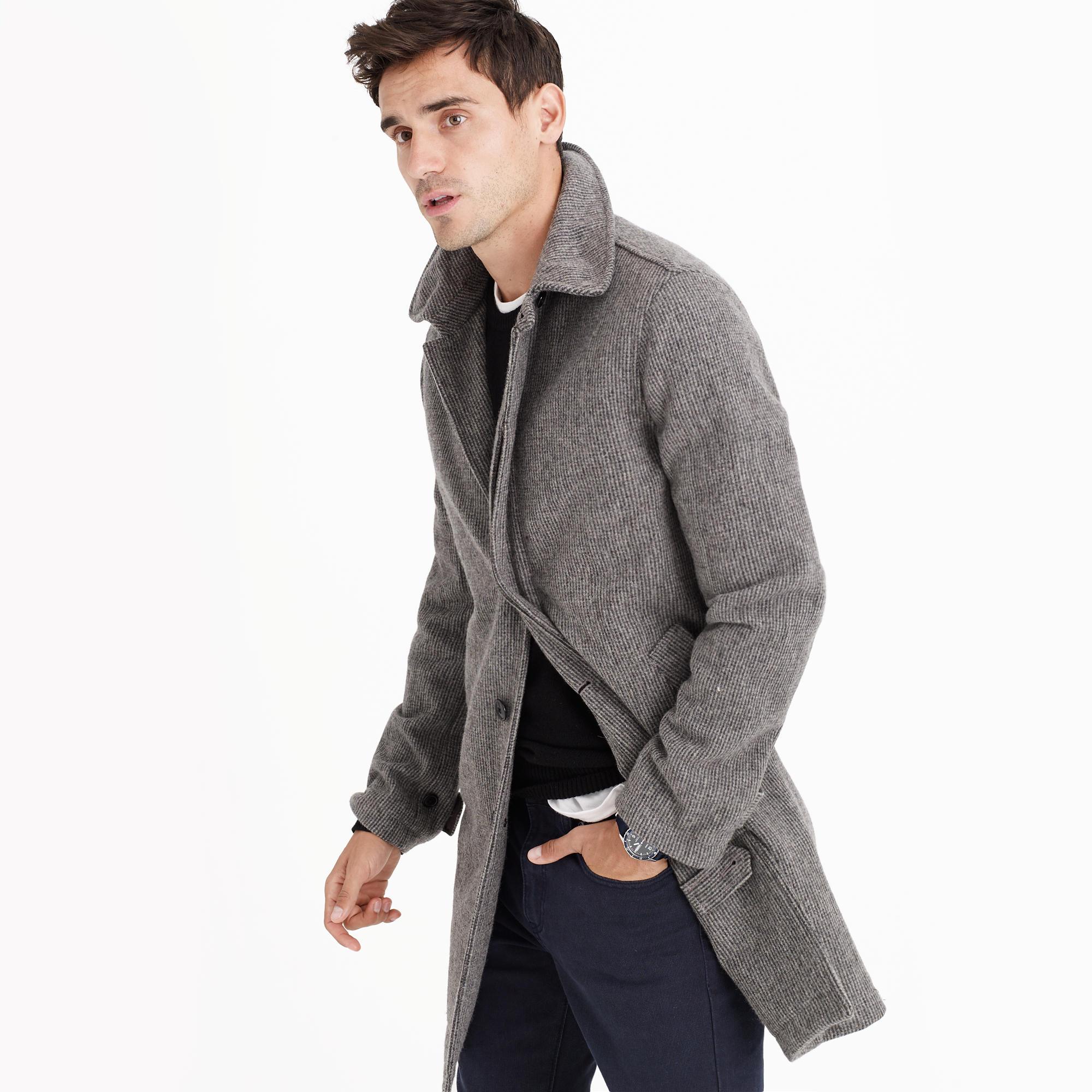 English houndstooth wool car coat : | J.Crew