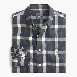 Midweight flannel shirt in heather gravel plaid