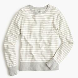 Reverse terry sweatshirt in stripe
