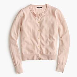 Lightweight wool Jackie cardigan sweater