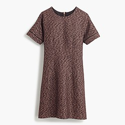 Collection short-sleeve rose-gold tweed dress