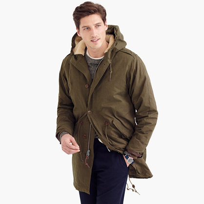 Hooded fishtail parka with Primaloft®